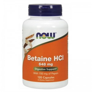 Betaina Hcl 648Mg 120 Tabl