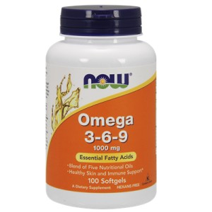 Omega 3-6-9 1000mg 100 kapsułek NOW FOOD'S