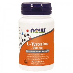 L-Tyrosine 500mg 60 kapsułek NOW FOODS