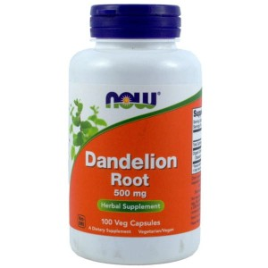 DANDELION ROOT (MNISZEK) 500MG,100 KAPS. - NOW FOODS